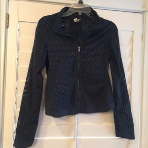 Under Armour cut out Lacey Workout Jacket M